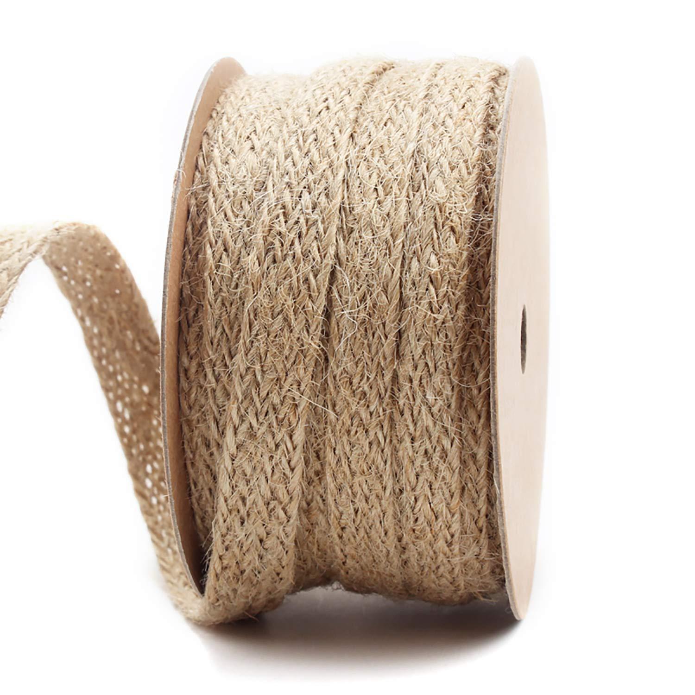 LaRibbons 0.47 inch Burlap Braided Hemp Rope String