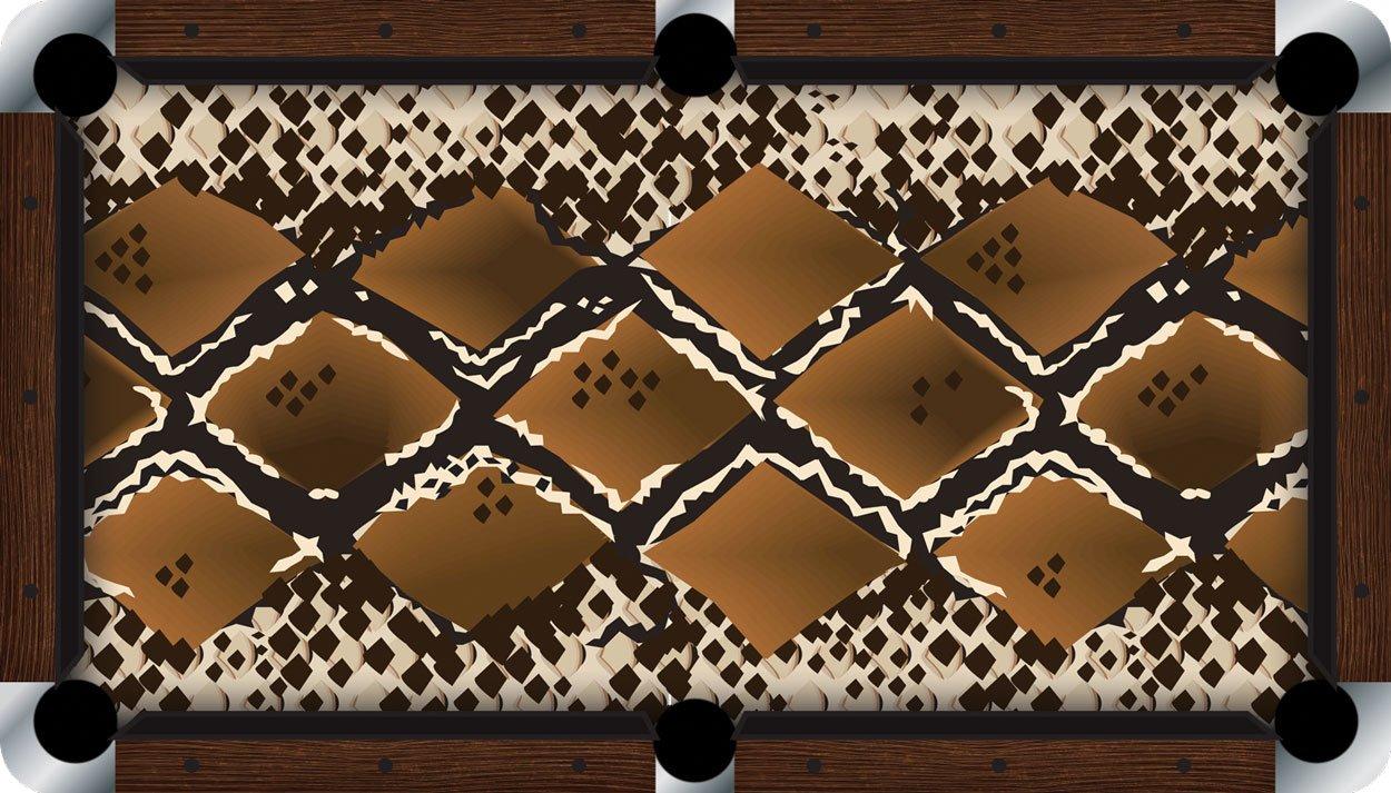 プールテーブルFeltビリヤードCloth – Vivid – Snakeskin B01E5Z3GDS  9 foot