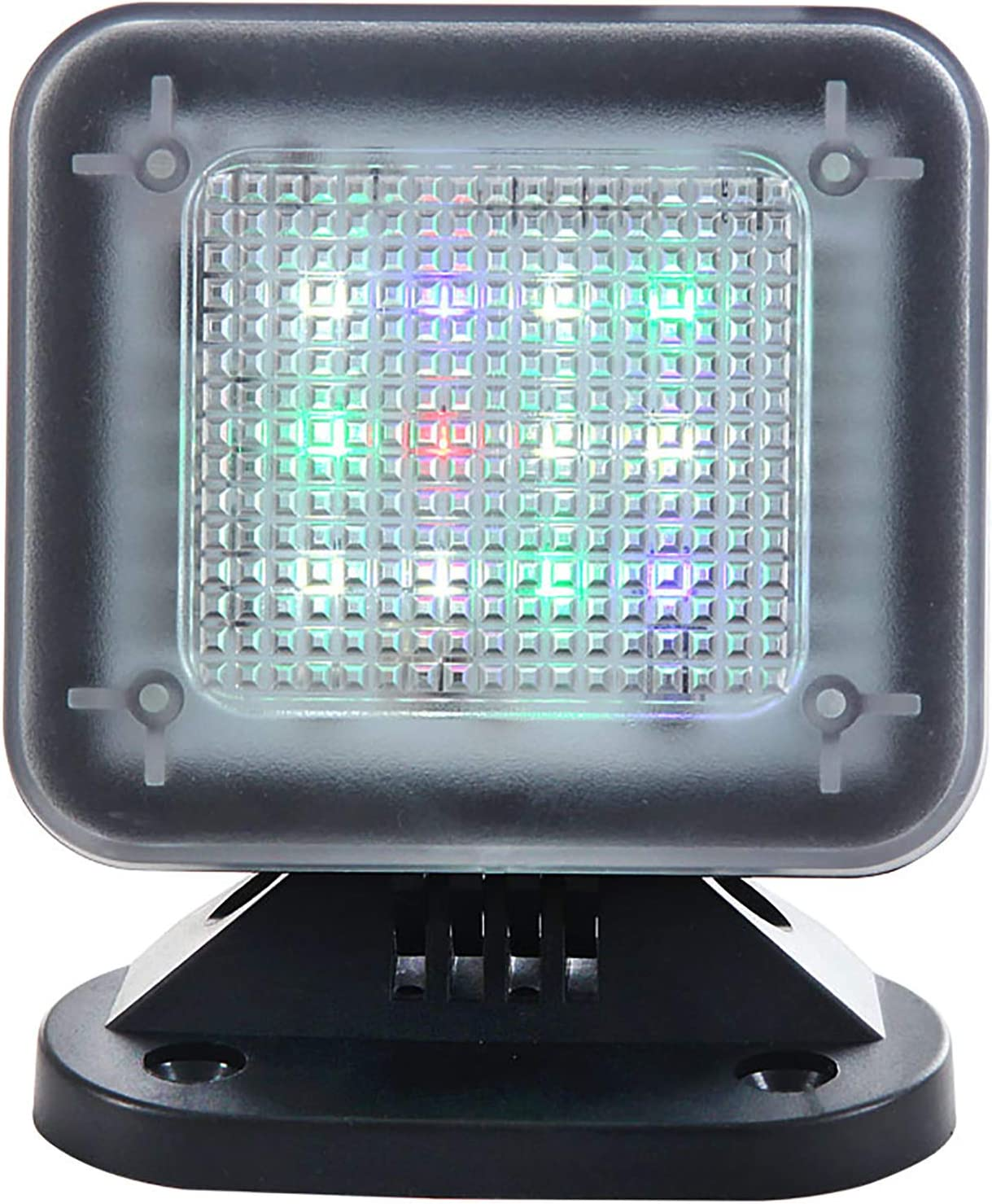 WALI Dummy Fake Security TV Light LED Simulator with Timer Sensor Crime Prevention (FTV001), Black