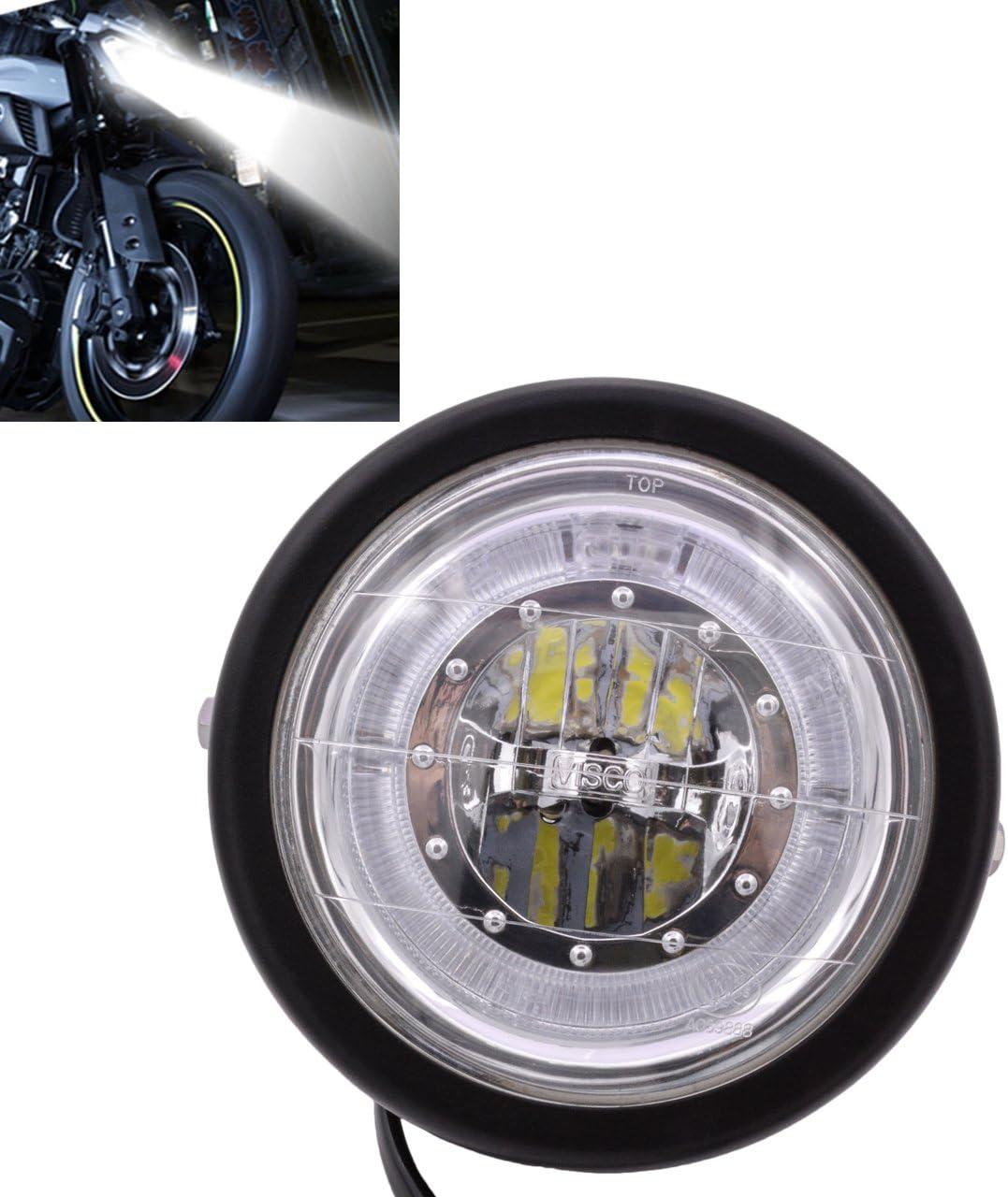 Katur Motorrad Scheinwerfer Led Scheinwerfer 6 1 5 1 Cm Für K Awasaki H Arley H Onda S Uzuki Y Amaha W Halterung Blau Angel Eye Custom Auto