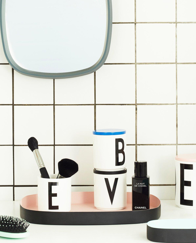 Pink Design Letters Candle Holder Insert for Porcelain Cup