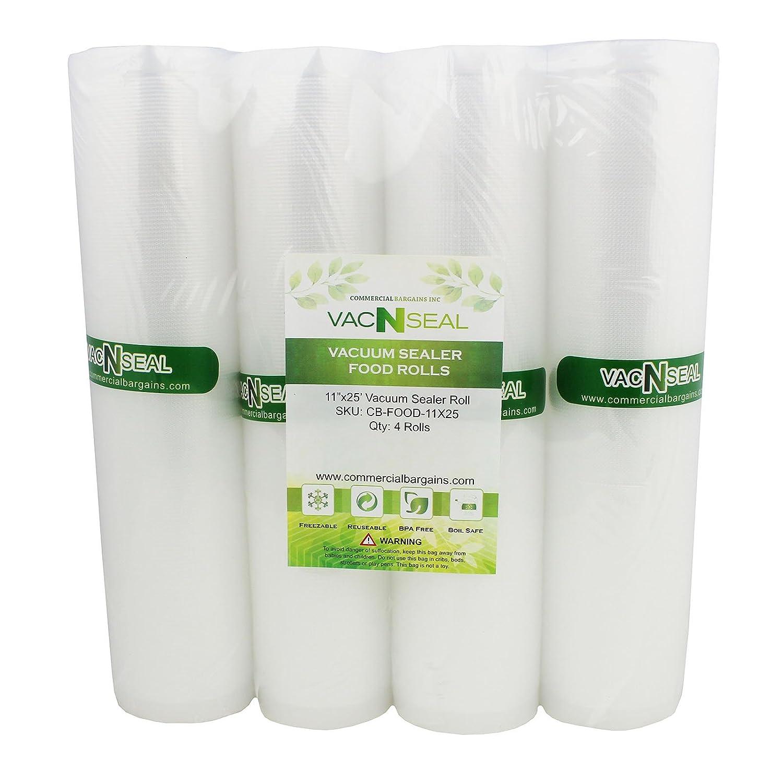 4 Vacuum Food Sealer Saver Storage Bag Rolls 11
