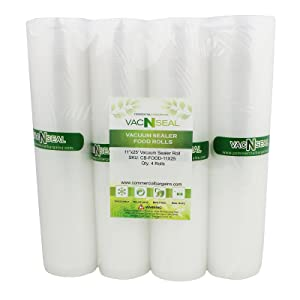 """4 Vacuum Food Sealer Saver Storage Bag Rolls 11"""" Wide 25' FT For Foodsaver Sous Vide Freezer"""