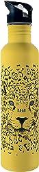 KA-AB Botella de Acero Inoxidable para Agua. Capacidad 1lt, Libre de BPA. Diseño Jaguar