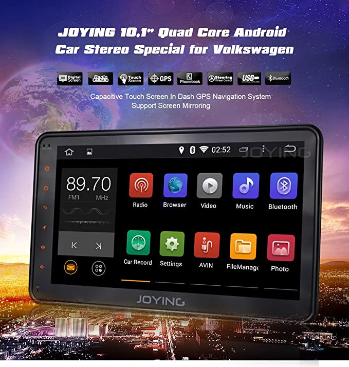 Amazon com: JOYING 10 1 Inch Screen Quad Core Android 4 4