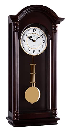 JVD 20123 - Reloj de péndulo de madera con movimiento de cuarzo, Westminster de läute de: Amazon.es: Relojes