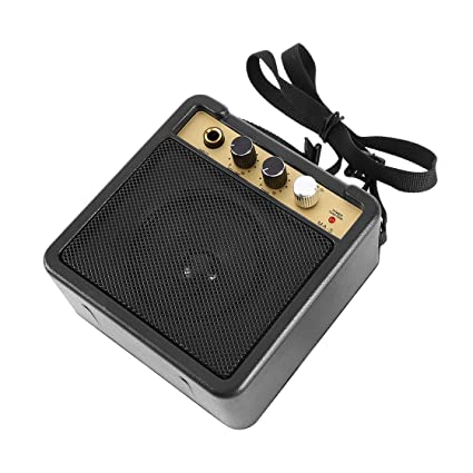 Laurelmartina E-Wave Mini Amplificador de Guitarra Amplificador de Guitarra con Clip Trasero Altavoz Accesorios