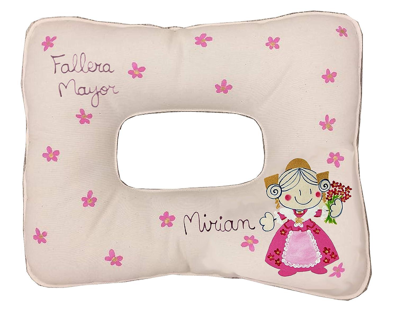 cojin para dormir con moño fallera Personalizado: Amazon.es: Handmade