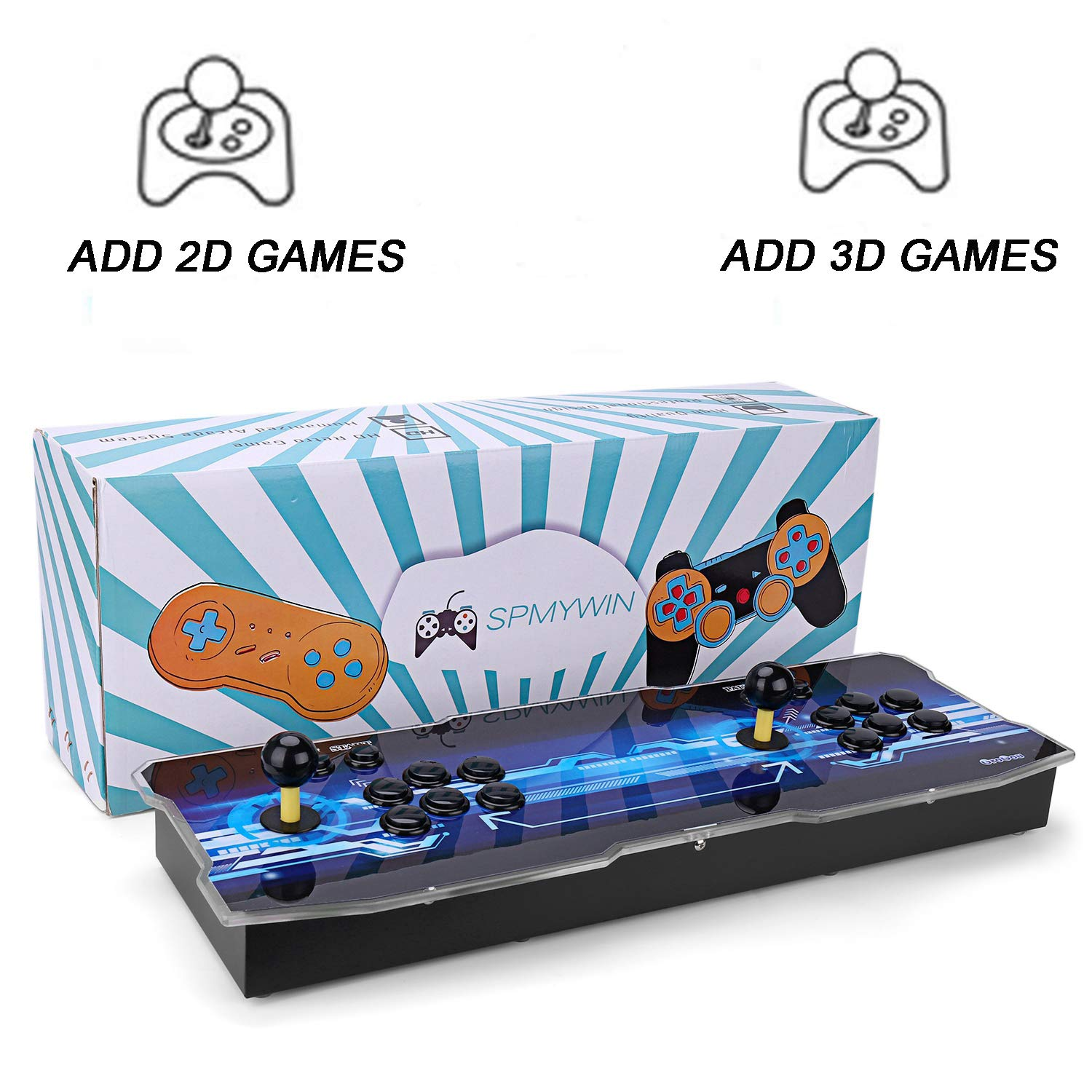 Spmywin 3D Pandora's Key 7 Arcade Video Game Console 1080P Game System Support Expand 2D 3D Games Function Advanced CPU Mini Arcade Come with a 32G U Drive by Spmywin (Image #1)