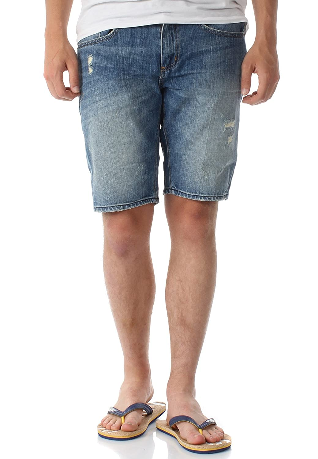 Superdry Shorts Herren Officer Slim Short Quarry Used