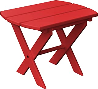 product image for Poly Folding End Table - Bright Red