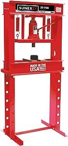 Sunex 5720 Fully-Welded Manual Hydraulic Shop Press, 20 Tons