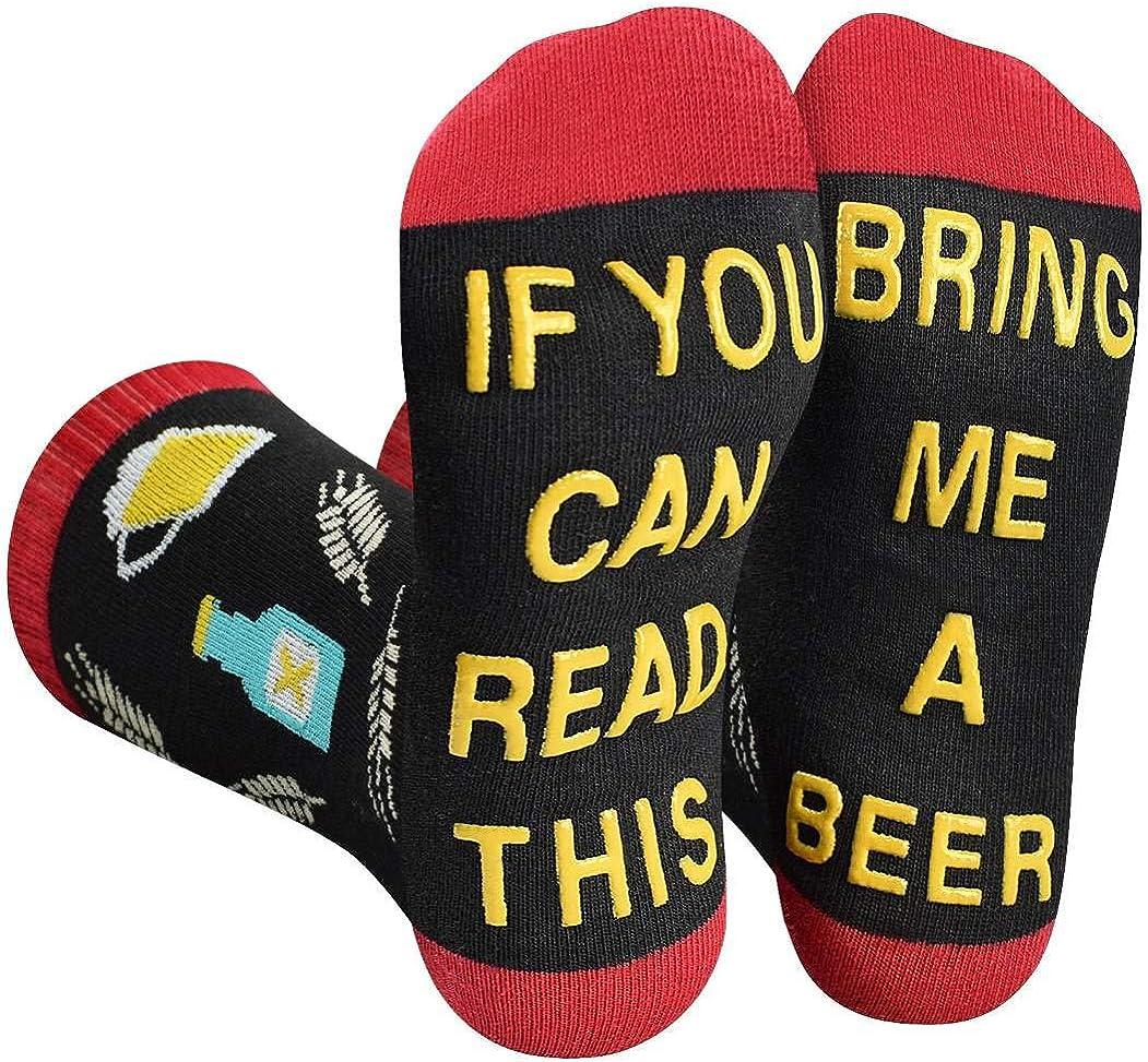 Calcetines De Algodón De Mujer Hombre Informal Gracioso si puede leer esto trae una cerveza Regalos