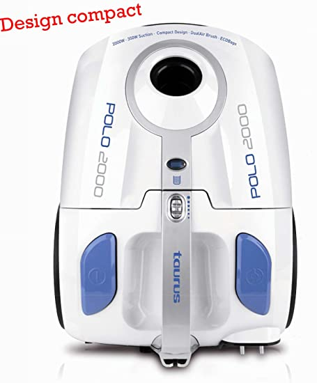 Taurus Polo 2000 - Aspirador con bolsa 2 L, 2000 W, filtro HEPA ...