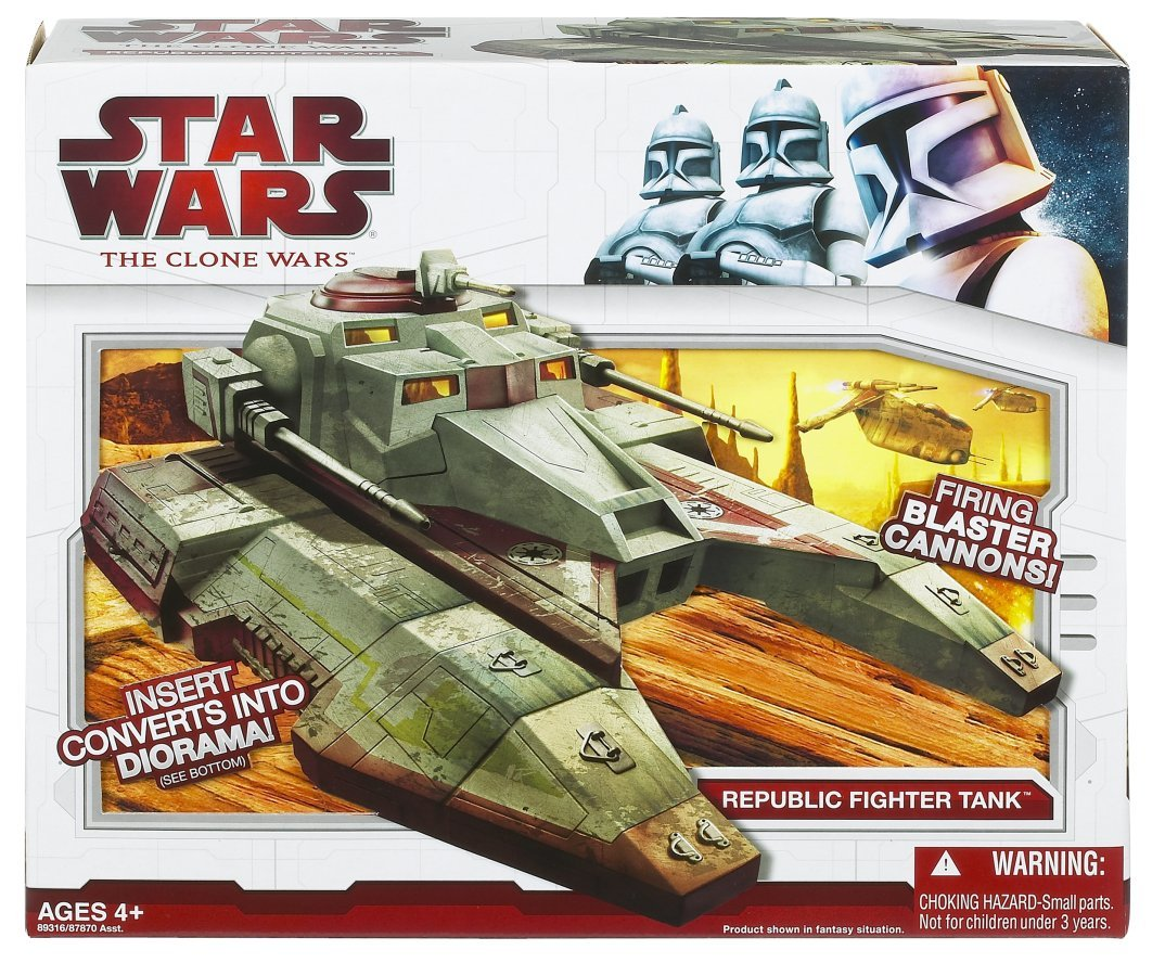 Amazon.com: Star Wars Clone Wars Star fighter Vehicle - Republic Fighter Tank: Toys & Games