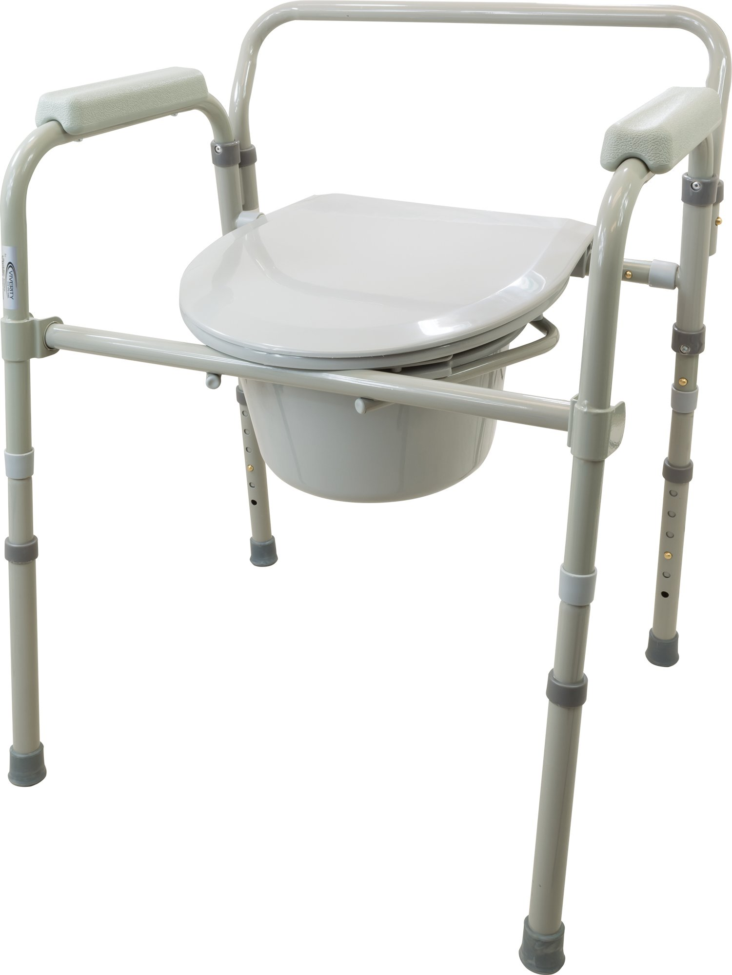 Viverity B105-2R 3-in-1 Folding Commode by Roscoe Medical (Image #1)