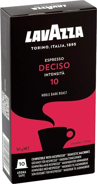 Lavazza Deciso Espresso, Cápsulas de Café, Compatible con las ...
