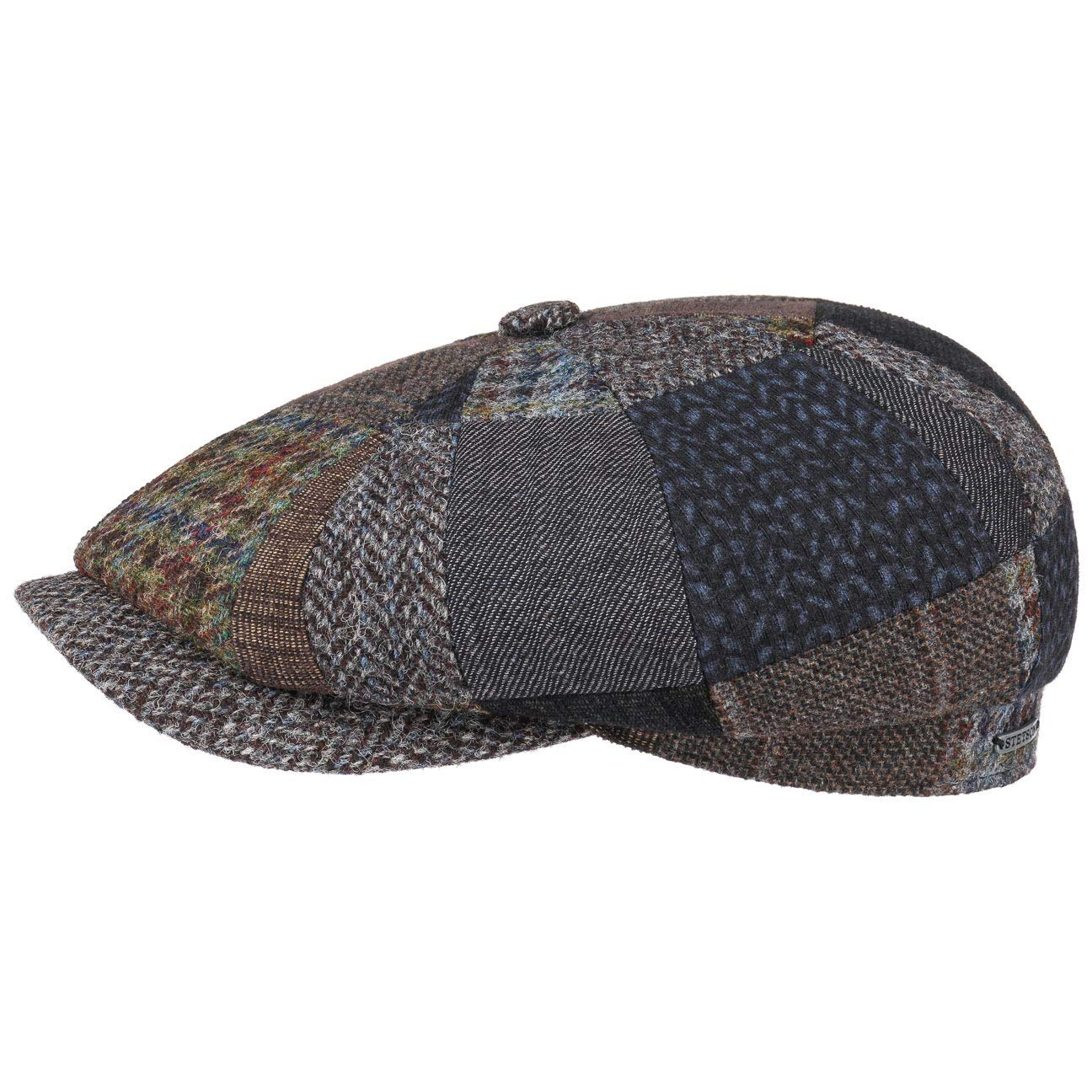 b58c09d5bf3 Stetson Hatteras Handmade Patchwork Flat Cap Wool Ivy hat  Amazon.co.uk   Clothing