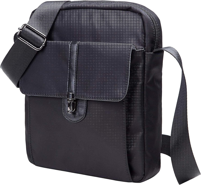 Small Messenger Bag. Waterproof Nylon Leather Lightweight Crossbody Bag Sling Bag for Men Women