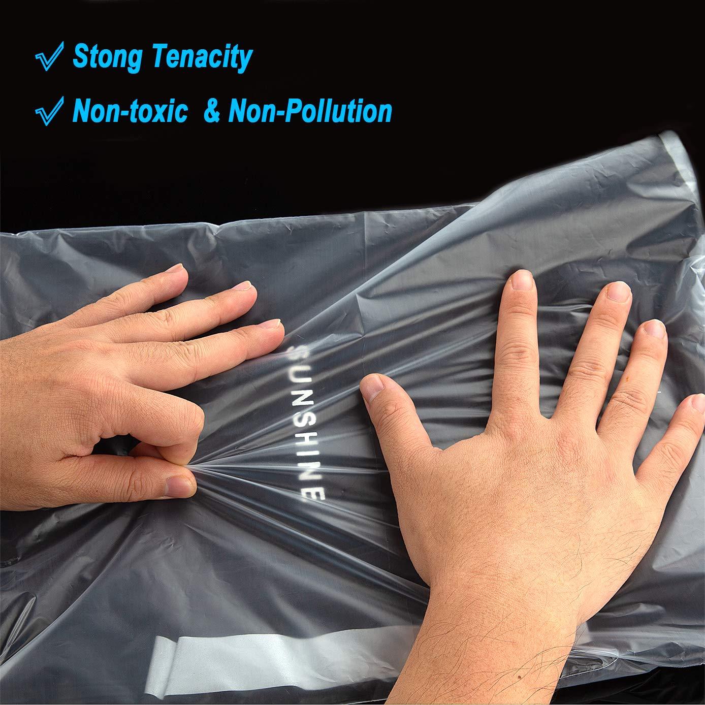 Brochure Letter Size Documents Plastic Cellophane Cello Bags CenterZ 100 Count 9x12 Self Seal 2.76 Mil Matte Clear Poly Bags Translucent OPP Apparel Bag Set fits for Prints Photos T-shirt Clothes
