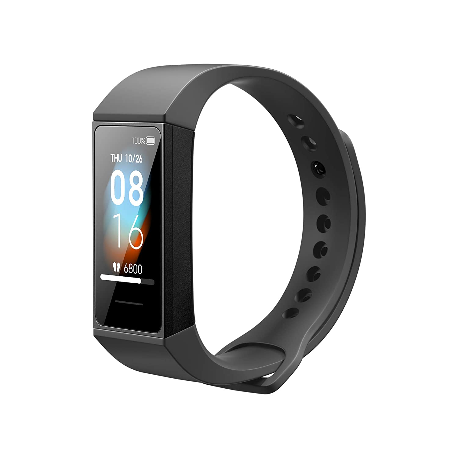 Redmi Smart Band - Black (Direct USB Charging, 5ATM Water Resistant, Full Touch Color Display, App Notifications, Music Control)