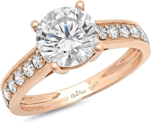 Halo Engagement Wedding Ring 10K Yellow Gold Round Cut 1.75 CT 2.8 grams sizes