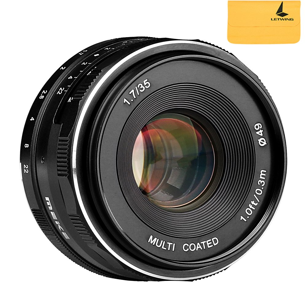 Meike MK-35mm F1.7 Large Aperture Manual Focus Lens for Sony E Mount Camera NEX3/3N/5/5T/5R/6/7/A5000/A5100/A6000/A6100/A6300