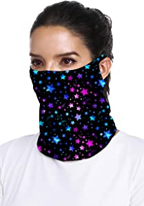 Ababalaya 1/4/6 PCS Cooling Face Bandana Neck Gaiter Face Scarf Neck Cover Face Cover for Summer Cycling Hiking Fishing UPF50++