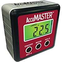 Calculated Industries 7434 AccuMASTER 2-in 1 Magnetic Digital Level and Angle Finder / Inclinometer / Bevel Gauge…