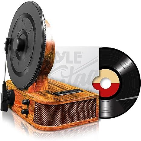 Amazon.com: Pyle Bluetooth Turntable, Negro (pltt21bt ...