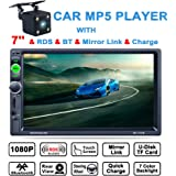 LSLYA (TM)  7inch HD Car Stereo bluetooth MP5 player TFT touch screen FM AM RDS Radio back car video USB / TF Aux Input Color screen +Car Rear View Camera
