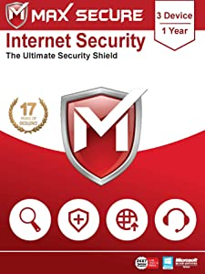 Max Secure Software Internet Security for PC 2019 | Antivirus | 3 Device | 1 Year (Activation Key Card)