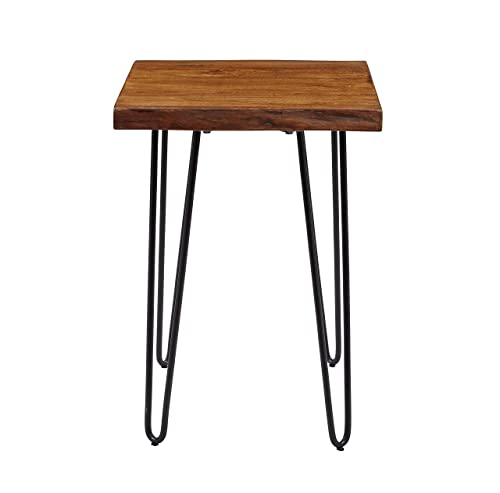 Jofran Nature s Edge Chairside Table, 18 W X 24 D X 24 H, Acacia Finish, Set of 1