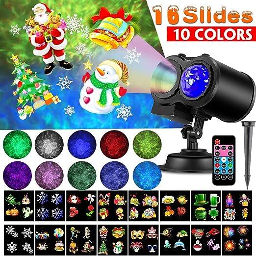 Amazon.com: LED Proyector Luces de Navidad,Impermeable Luces ...