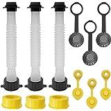 EONLION Gas Can Replacement Spout Kit, Flexible Pour Nozzle with Gasket, Stopper Caps, Collar Caps, Stripe Cap, Spout Kit for