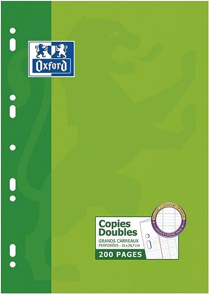Oxford 100105681- Recambios papel, paquete de 200 hojas (A4), Pack de 5: Amazon.es: Oficina y papelería