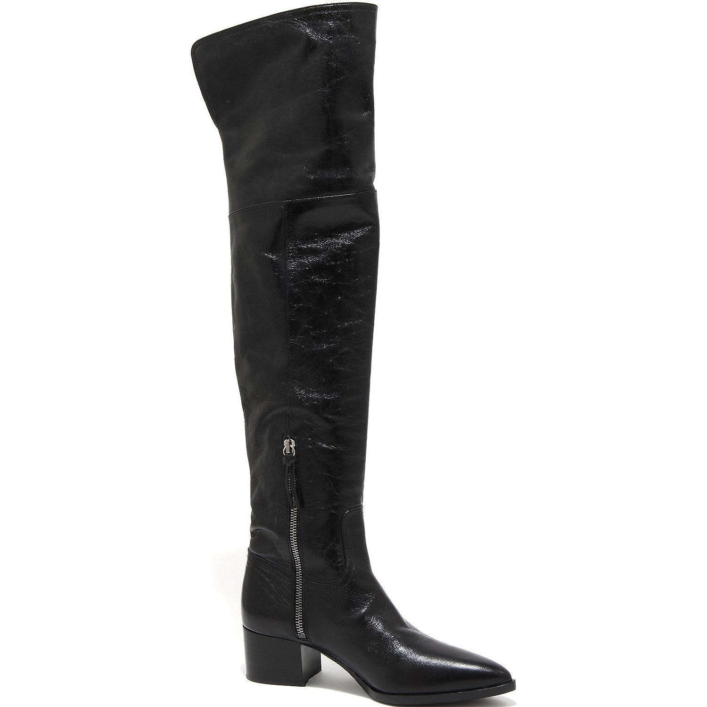 3216G stivale donna nero MIU MIU VITELLO SHINE scarpa boots shoes women