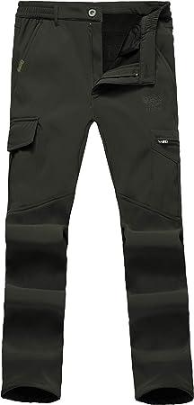 Ynport Crefreak Pantalon Elastico Con Forro Polar Para Hombres Pantalones De Soldador A Prueba De Viento Amazon Es Deportes Y Aire Libre