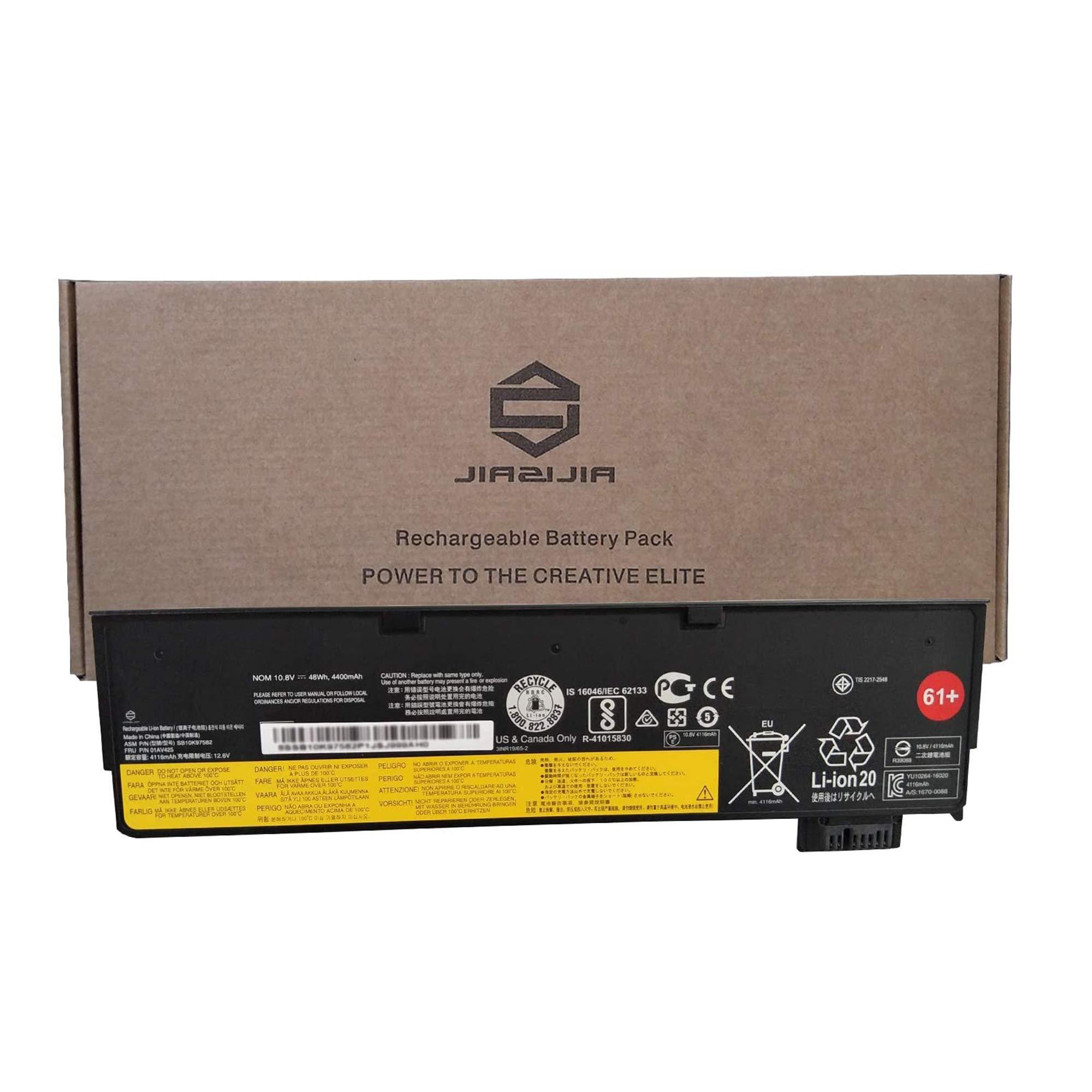 JIAZIJIA 01AV425 Laptop Battery Replacement for Lenovo ThinkPad T470 T570 T480 T580 A475 P51S P52S TP25 Series 61+ 4X50M0881 01AV491 SB10K97582 SB10K97583 L18M6P71 SB10K97661 02DL023 10.8V 48Wh