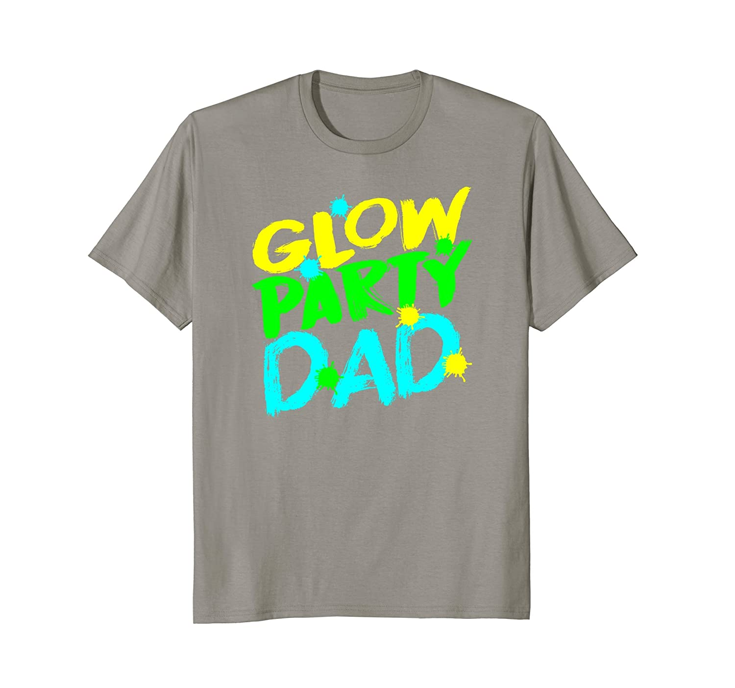 Mens Glow Party Dad T Shirt Happy Birthday