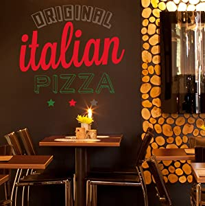 STICKERSFORLIFE ced816 Full Color Wall Decal Sticker Pizza Food Cafe Pizzeria Restaurant