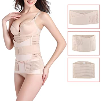 13f027a102 Hip Mall 3 in 1 Postpartum Support Recovery Belly Wrap Girdle Band Belt  Body Shaper Postnatal