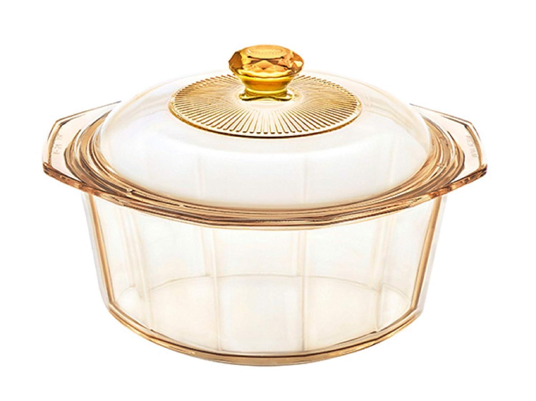 Visions Diamond 2.2L Glass Ceramics Dutch Oven Stock Pot with Lid