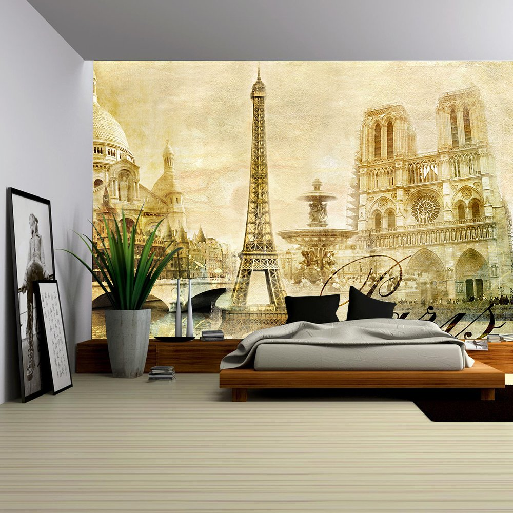 Amazing Paris Vintage Clipart Wall Murals Wall26