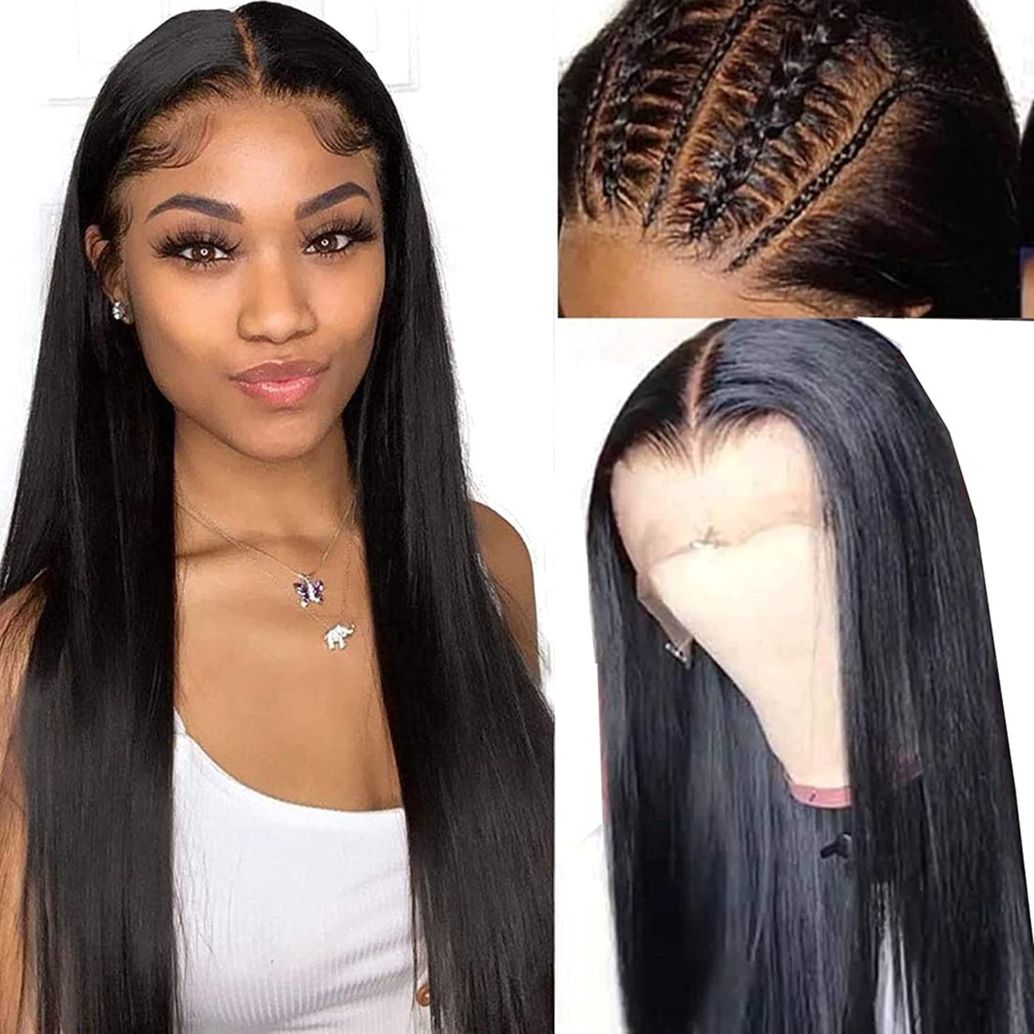 Straight 13x4 Lace Front Human Super beauty product restock quality top Hair Max 45% OFF Blac With For Wigs Baby