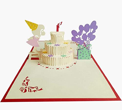 Tarjeta de cumpleaños emergente 3D hecha a mano pastel de ...