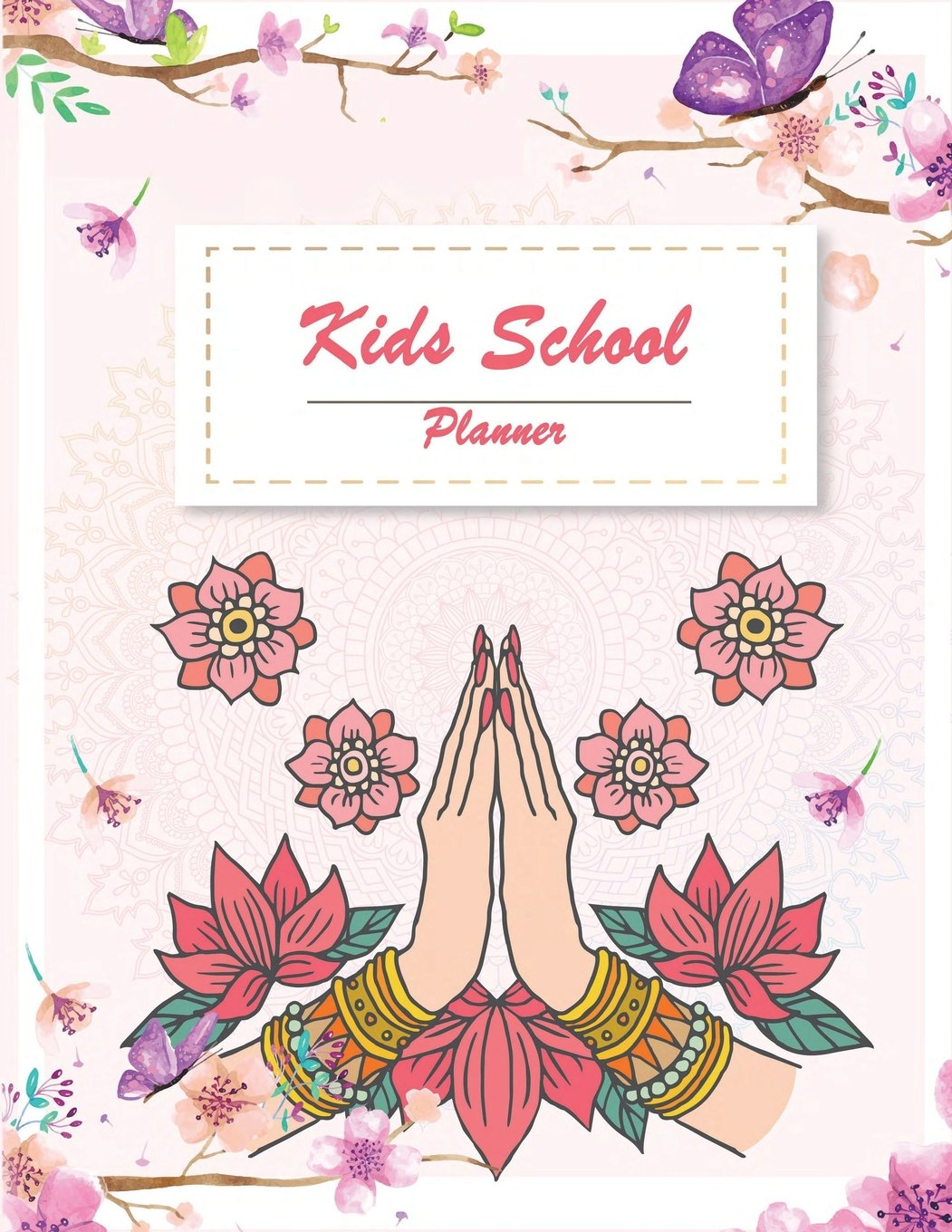 "Download Kids School Planner: Pretty floral, School Planner with Class Schedules, Passwords, Notes and Daily Planner, Homework, checklist...120 Pages 8.5"" x 11"" pdf"