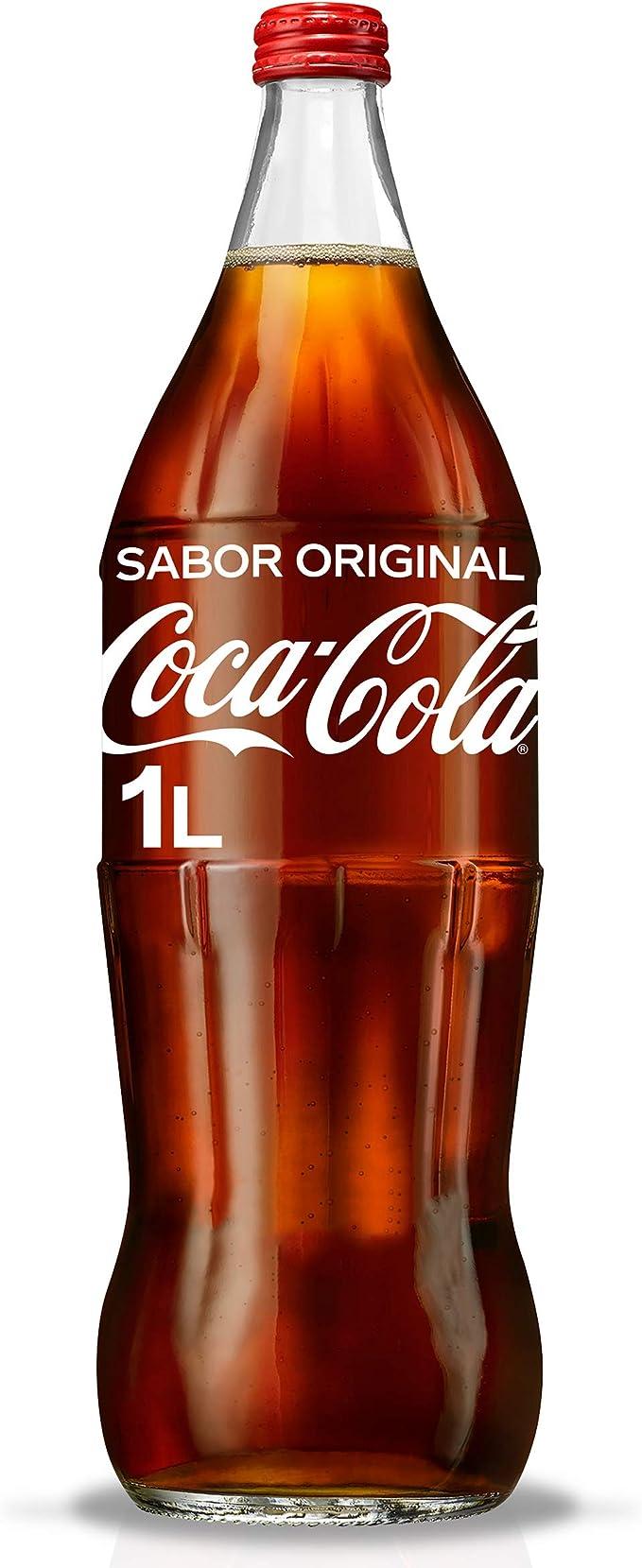 Cocacola Original Refresco Botella De Vidrio 1l Amazon Es Alimentación Y Bebidas