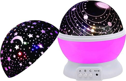 scopow rotación Universo funda y Star lámpara de noche Iluminación ...