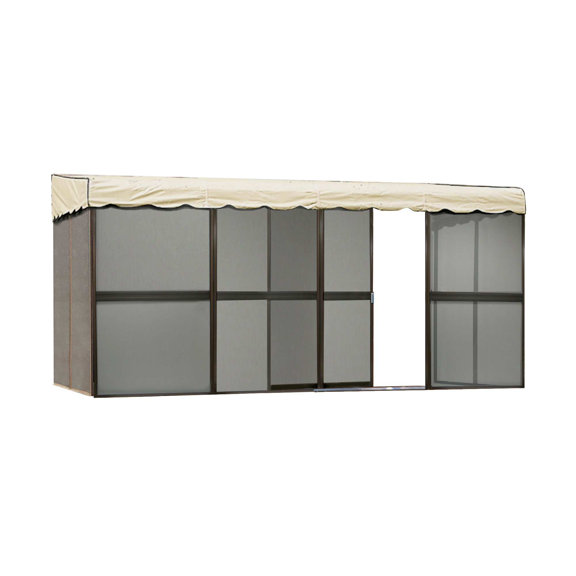 Patio Mate 8-Panel Screen Enclosure 89165, Brown with Almond Roof